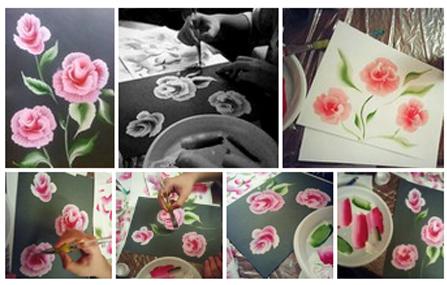 мастер класс москва, китайская живопись, цветы, альстромерии