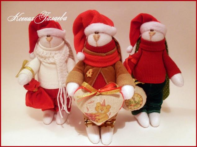 новый год, подарок на новый год, куклы и игрушки, кукла тильда