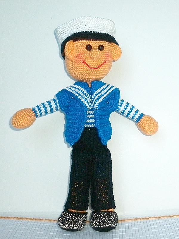 кукла ручной работы, вязаная игрушка, кукла, кукла в подарок, вязаная кукла, игрушка ручной работы, игрушка, подарок, игрушка в подарок, интерьерная кукла, кукла вязаная, вязание крючком, интерьерная игрушка, оригинальный подарок, авторская кукла, морячок, моряк, ручная работа, кукла своими руками, игрушка своими руками