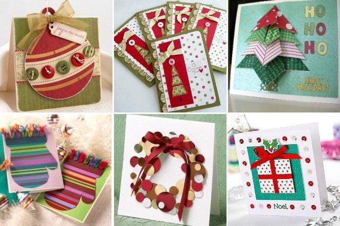 Новогодние открытки своими руками как делать