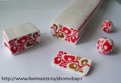 Вышивка полимерной глиной
