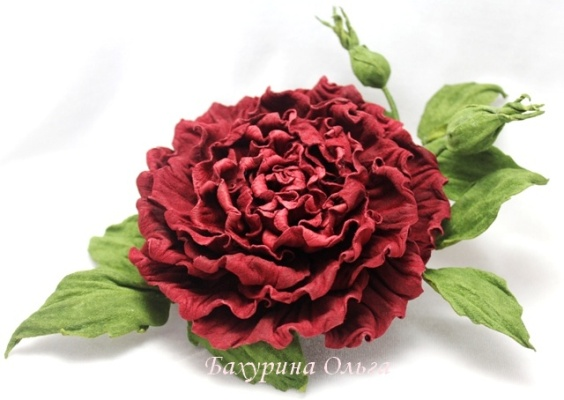 кожаная флористика, брошь цветок, цветы ручной работы, цветоделие, мастер-класс, пвс, роза