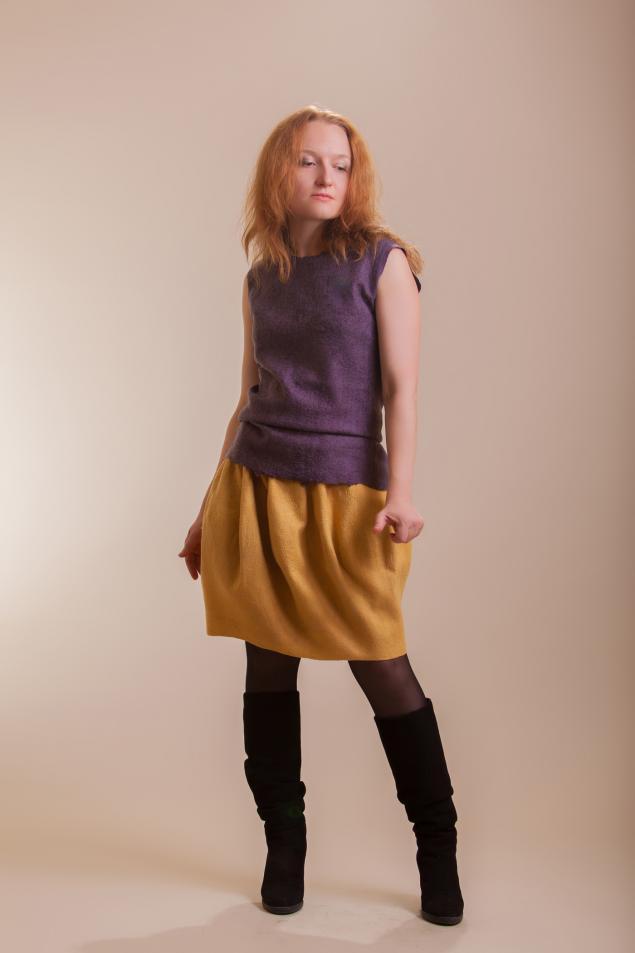 мастер-класс по валянию, валяные юбки
