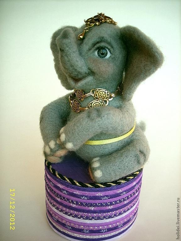 розыгрыш, розыгрыш конфетки, розыгрыш подарка, слоник, слоненок, валяная игрушка, авторская игрушка, ручная работа