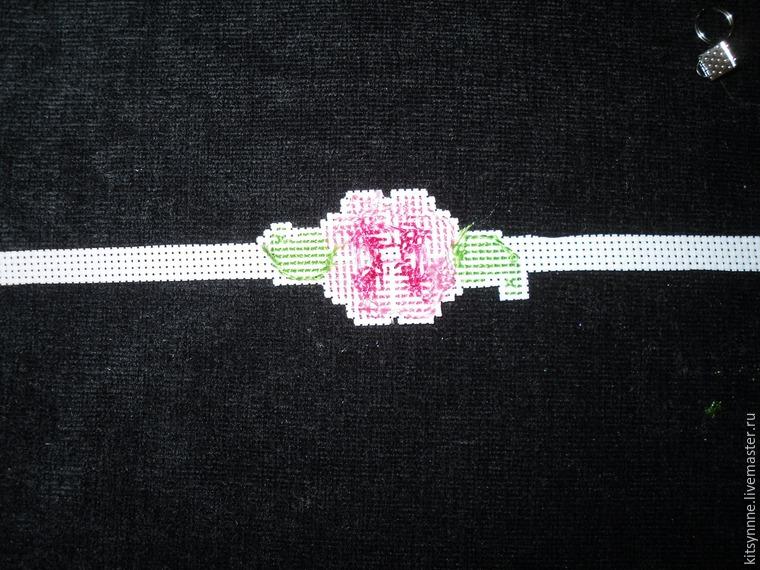 Как сделать браслет с вышивкой «Весеннее настроение», фото № 7