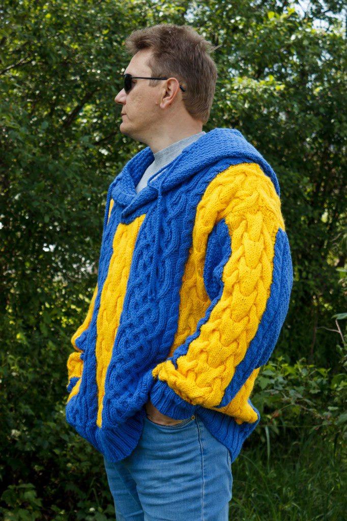 жёлтый, вязание