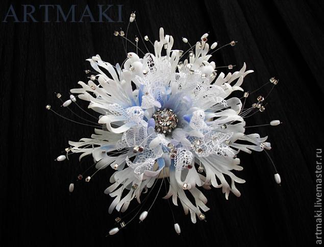 Фантазийный цветок «Из мира снежинок», фото № 15