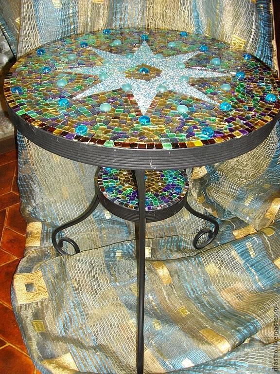 119Как сделать мозаичный столик мастер класс