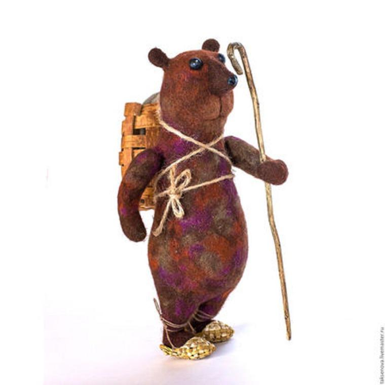 медведь, валяный мишка, стихи, необычный подарок