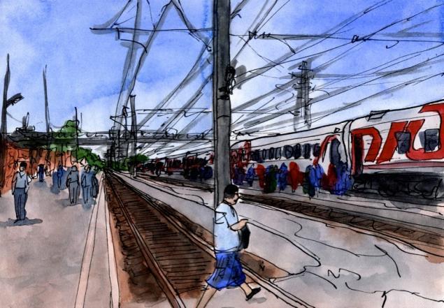 Путешествуем с Михаилом Щербаковым (Vokabre): быстрые зарисовки акварелью, фото № 21