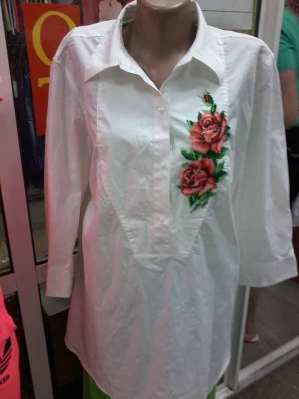 бисер, блуза, розы, вышивка бисером, аукцион с нуля
