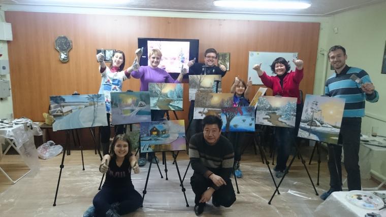 мастер-класс, живопись маслом, море маслом, уроки живописи