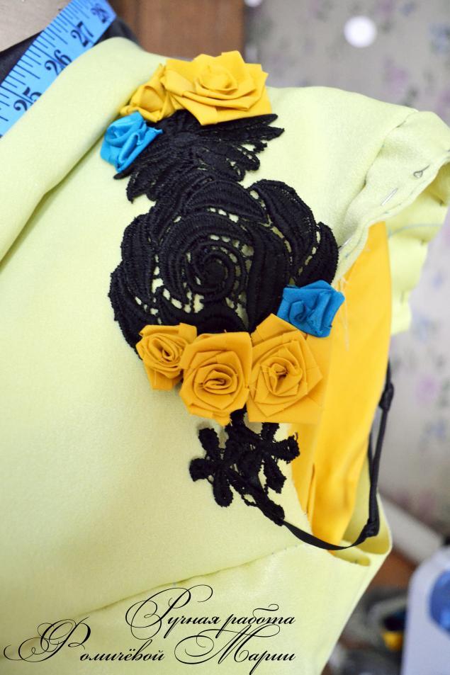 цветы из ткани, коллекция одежды