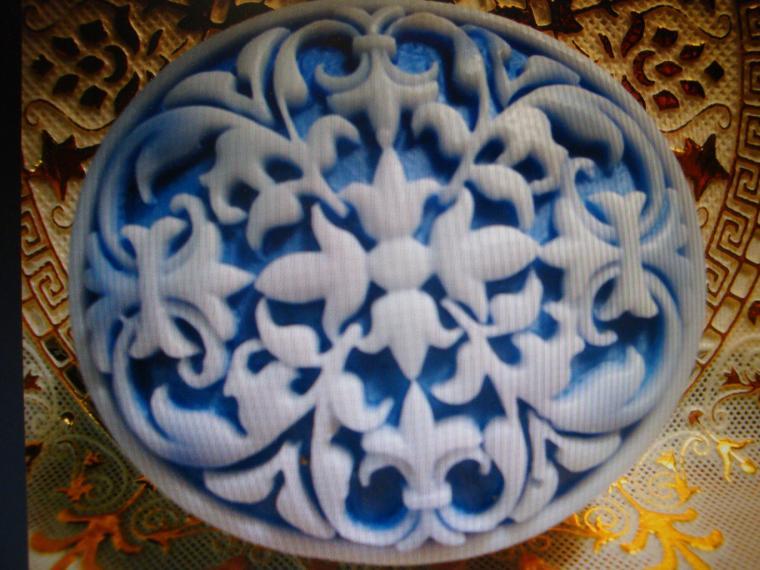 голубой узор, бело-голубой, признание мастера