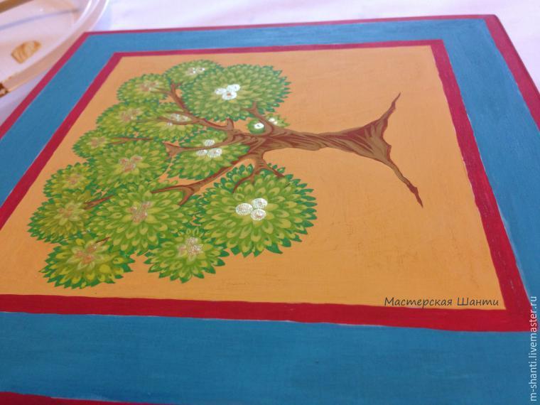 Расписываем яркую шкатулку-развивайку для детей, фото № 19