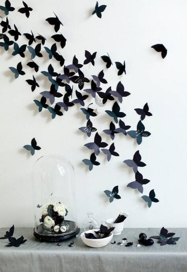 Идея декора стен) Можно конечно и не бабочек, ех... увидела бы раньше...