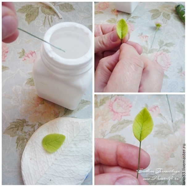 Лепим веточку сакуры из полимерной глины, фото № 9