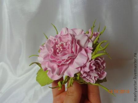 мастер-класс, цветы из замши, как живые розы