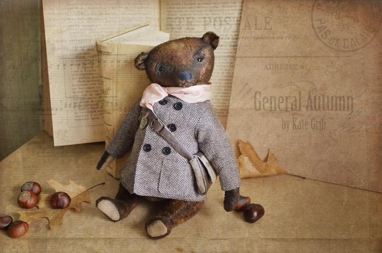 тедди, мишка в пальто