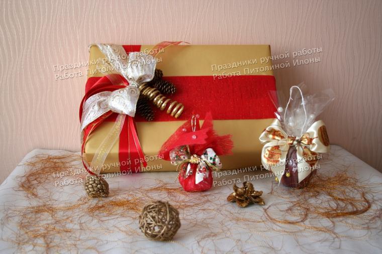 подарок, упаковка подарка, 2015 год, подарки на новый год