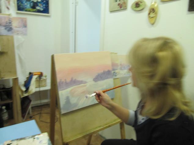 мастер-класс по живописи, цветы