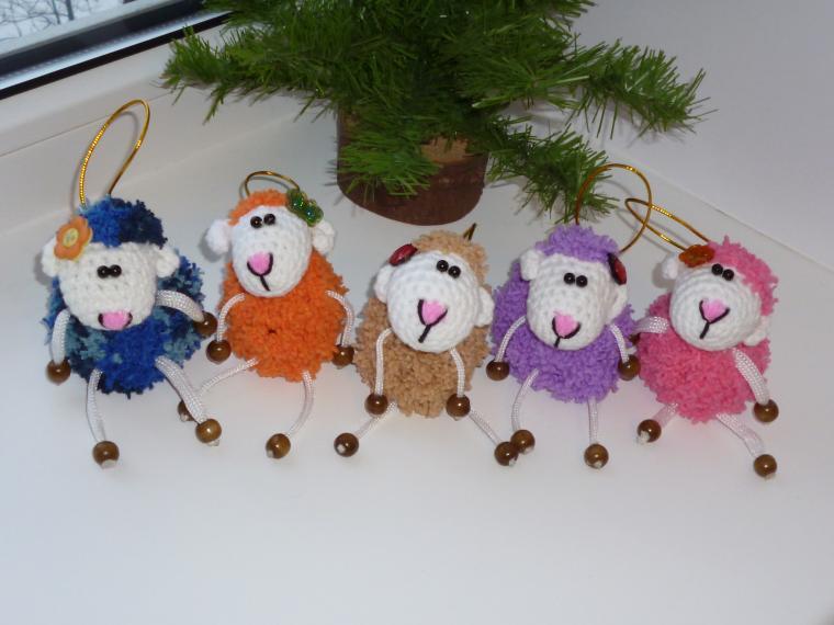 сувенир, овечка, подарок, пушистый, игрушка в подарок, игрушка, сувениры и подарки, скидка, распродажа готовых работ, распродажа игрушек, распродажа вязаных работ, распродажа