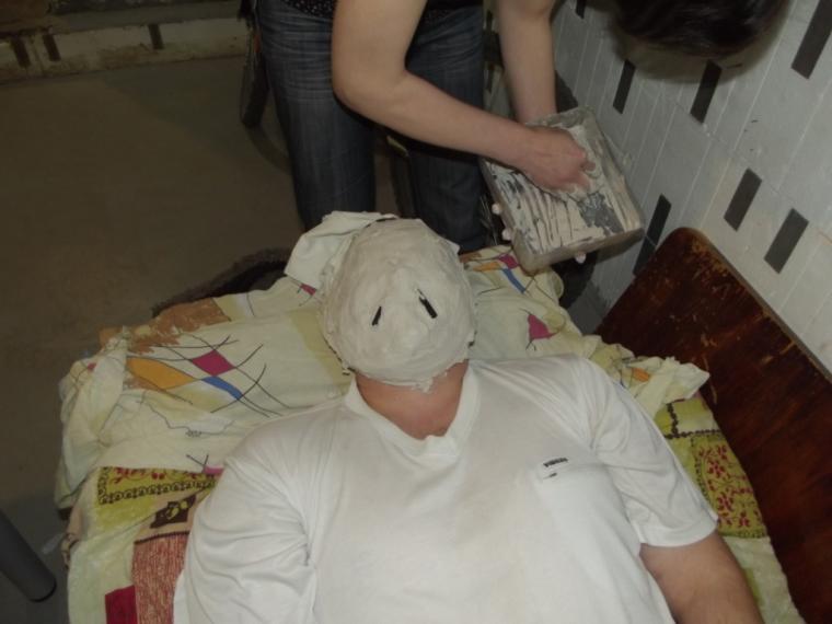 как сделать маску бабы-яги фото