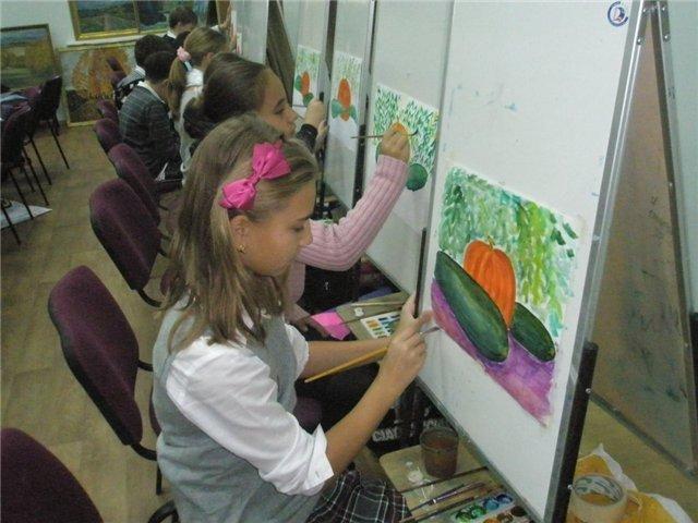 Рисуем с детьми «Осенний натюрморт», фото № 7