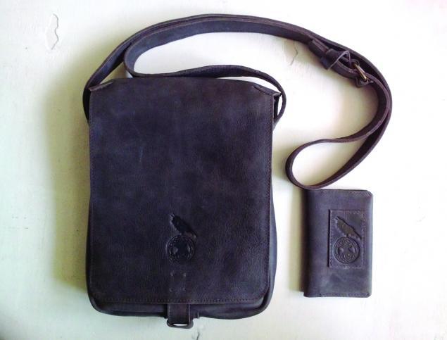 мужская сумка, ворон