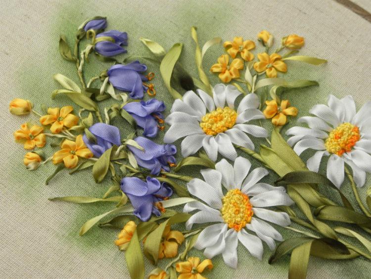 Полевые цветы лентами фото