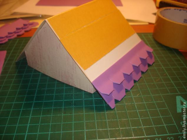 Как сделать объемную крышу из бумаги
