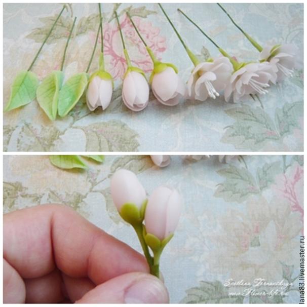 Лепим веточку сакуры из полимерной глины, фото № 10