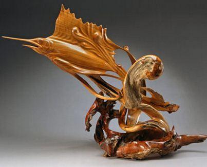 J. Christopher White.  Изящные деревянные скульптуры. Шестнадцатая