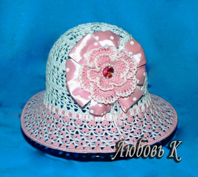 вязанные шляпки, шапочка для девочки