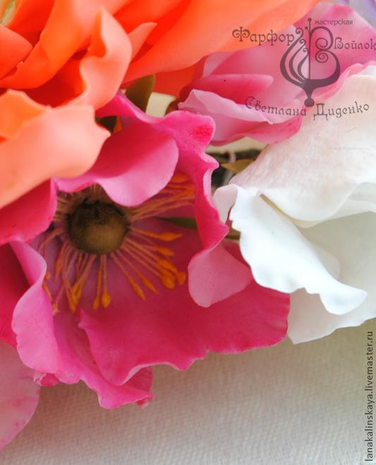 мк лепка цветка шиповника