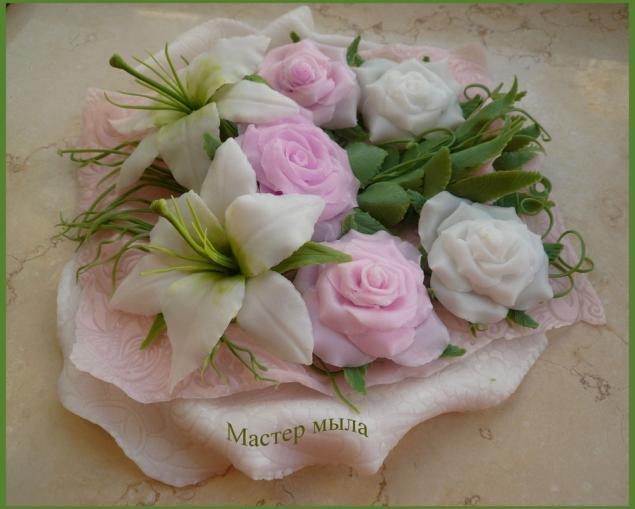 мыльные цветы