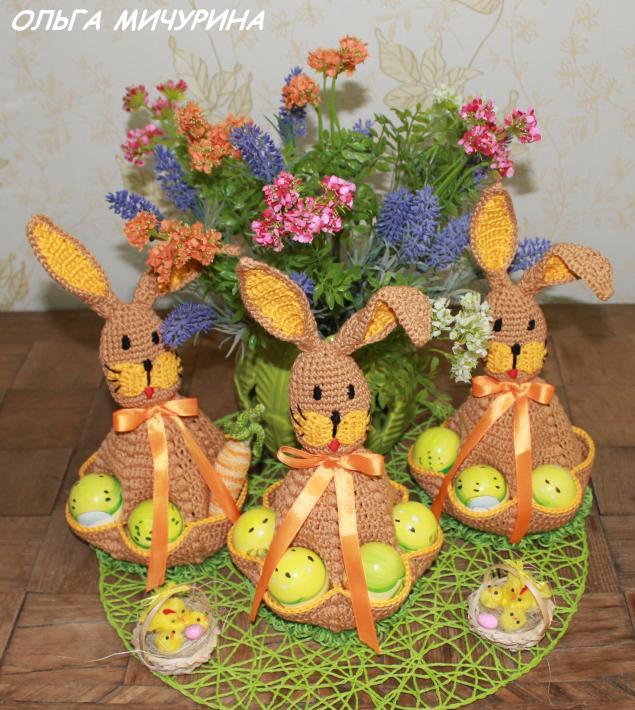 пасхальный заяц, пасхальный декор