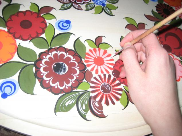 этапы городецкой росписи