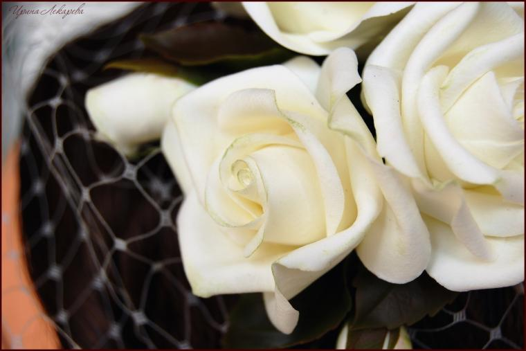 вуалетка с цветами