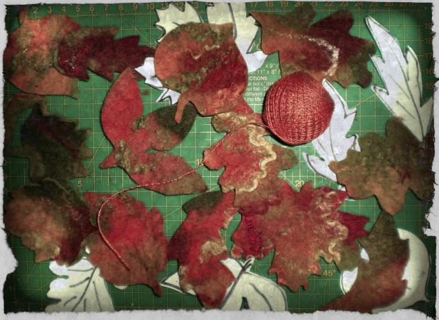 осень, листья, в процессе, на рабочем столе