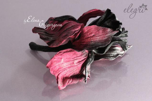 авторские цветы, обучение ирис, дизайнерские цветы