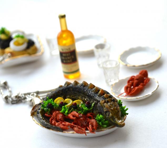 кулинарная миниатюра, раки