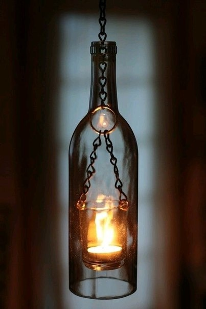 Плафон для люстры из бутылок
