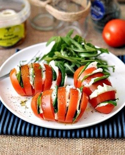 салат, капрезе, помидоры