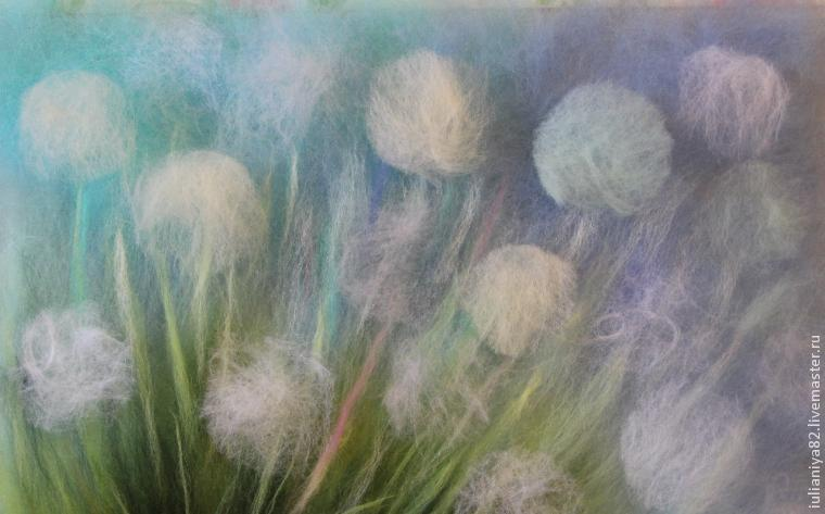 How to draw dandelions with wool