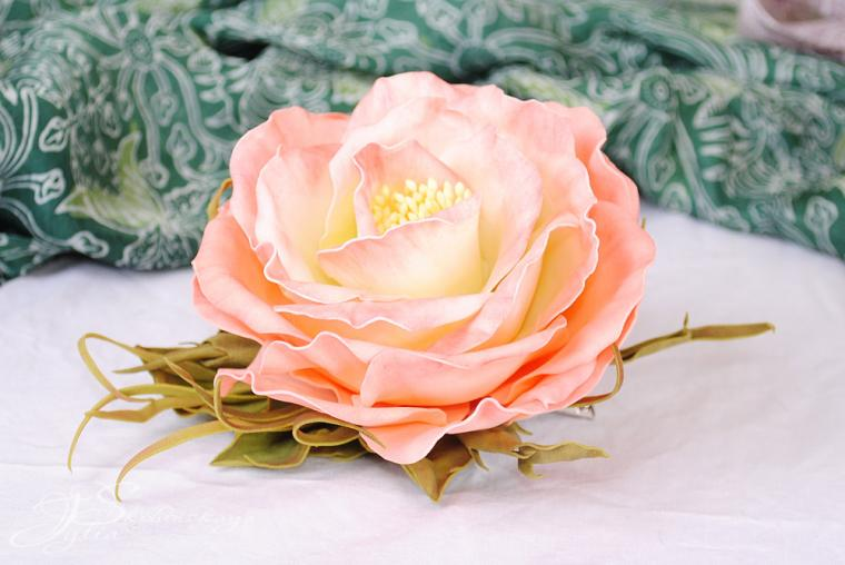 Как сделать цветы из фоамирана роза