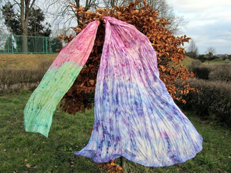 батик шарф, авторский шарф