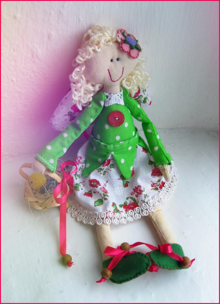 феечка, кукла текстильная