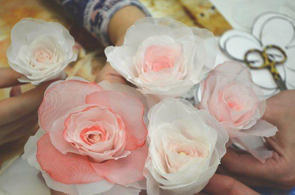 Создание розы из вуали по японской методике., фото № 3