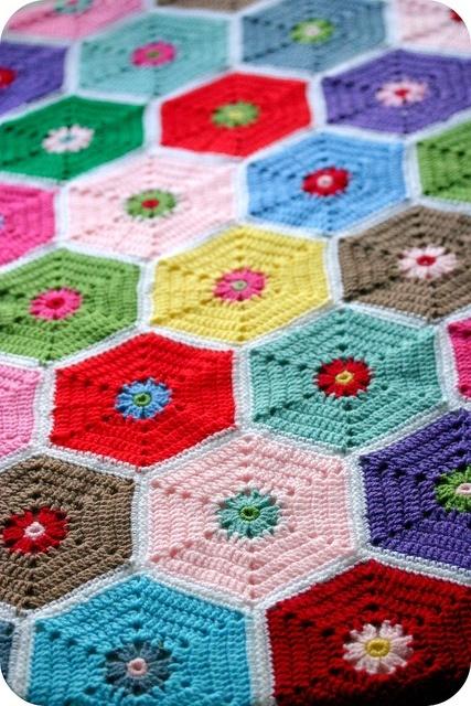 Hexagon Crochet Blanket